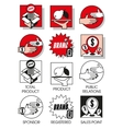 Line icons set with of marketing and distribution vector image vector image