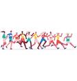 marathon running people jogging athletes group vector image vector image