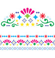 mexican-patterns-greeting-card-design-elements vector image vector image