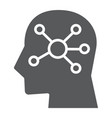 mind map glyph icon data and analytics vector image vector image