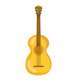 musical guitar instrument isolated icon over white vector image