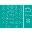 Outlined Medical and Healtcare Icons Set vector image vector image