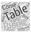 Picnic Tables What to Consider When Buying Them vector image vector image