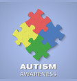 Puzzle autism awareness vector image