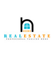 real estate initial letter h logo design template vector image vector image