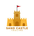 sand castle graphic design element vector image vector image