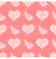 seamless pattern from white heart and butterfly vector image