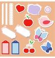 set cute scrapbook elements vector image vector image