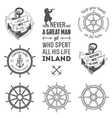 set nautical labels icons and design elements vector image vector image