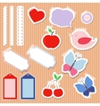 Set of cute scrapbook elements vector image vector image