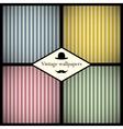 set vintage striped patterns vector image