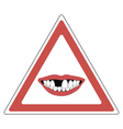 sign toothless people vector image vector image