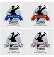 student graduation logo design artwork of a vector image vector image