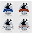 student graduation logo design artwork vector image vector image