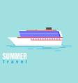 Summer travel cruise