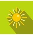 Sun icon in flat style vector image vector image