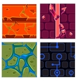 Textures for Platformers Icons Set Games vector image vector image