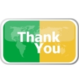 thank you words on web button icon isolated vector image vector image