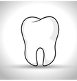 tooth human seal icon vector image