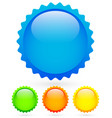 vibrant bright badges in 4 colors with highlight vector image