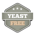 vintage yeast free badge logo or icon vector image vector image