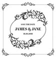 wedding card frame border vector image vector image
