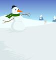 xmas snowman vector image vector image