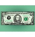 Banknote hundred dollars Benjamin Franklin vector image