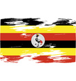 Flag of Uganda with old texture vector image
