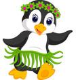 penguin cartoon dancing vector image