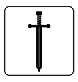 Medieval sword icon black vector image