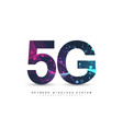5g network wireless systems and internet vector image vector image