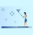 abstract business woman catch targets with vector image