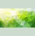 abstract polygonal background yellow green vector image vector image