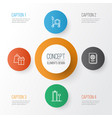 airport icons set collection of security scanner vector image vector image