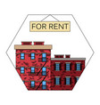 apartments for rent the old american city vector image