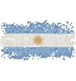 Argentinean grunge tile flag vector image vector image
