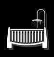 baby crib icon flat vector image