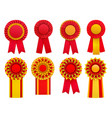 badges rosettes realistic set vector image