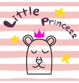 Bear princess t-shirt design for kids and babies vector image vector image