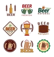 Beer colored emblems vector image vector image