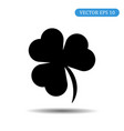 black shamrock icon eps 10 vector image