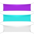 Blank color textile horizontal banners with copy vector image vector image