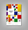 brochures book or flyer with abstract color vector image vector image