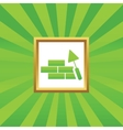 Building wall picture icon vector image vector image