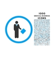 businessman rounded icon with 1000 bonus icons vector image vector image