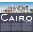 Cairo Skyline with Gray Buildings Blue Sky vector image vector image