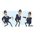 cartoon flat funny fat british policeman character vector image vector image