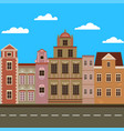 city street with vintage buildings vector image vector image