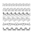 collection floral seamless border vector image vector image